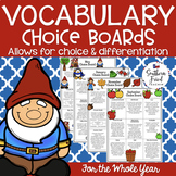 Vocabulary Choice Boards