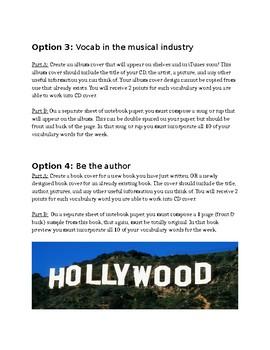 Vocabulary Choice Mini Projects