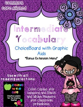 Vocabulary ChoiceBoards and Graphic Aids