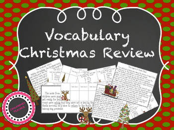 Vocabulary Christmas Review
