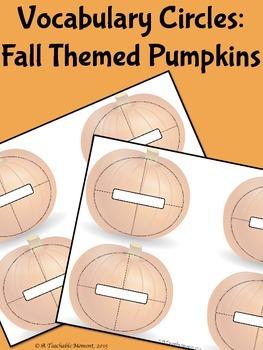 Vocabulary Circles- Fall Themed Pumpkins!
