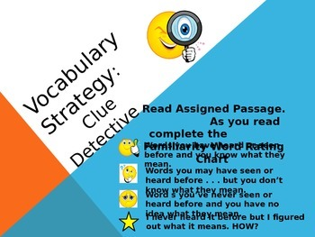 Vocabulary Clues Interactive Power Point