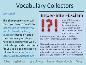 "PREVIEW: Vocabulary ""Collecting"" Resources for Differentiated Vocab Instruction"