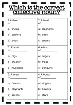 Collective Nouns Activity Pack