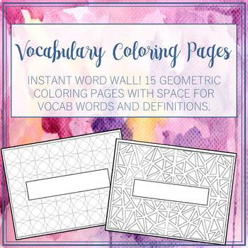 Vocabulary Coloring Pages