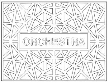 Vocabulary Coloring Pages - Orchestra
