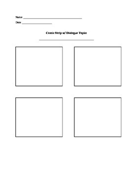 Vocabulary Comic Strip Activity with Rubric