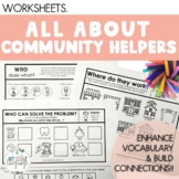 Community Helpers Vocabulary Worksheets