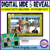 Vocabulary Community Helpers Hide and Reveal Digital Game - Teletherapy