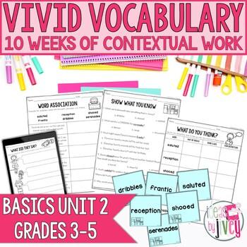 Vocabulary Companion to Just the Basics: Unit 2 (grades 3-5)