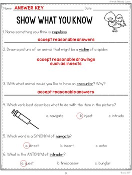 Vocabulary Companion to Just the Basics: Unit 3 (grades 3-5)