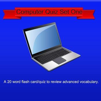 Vocabulary Computer Quiz  Set One