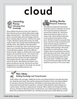 Vocabulary Concept Cards--Cloud and Fog