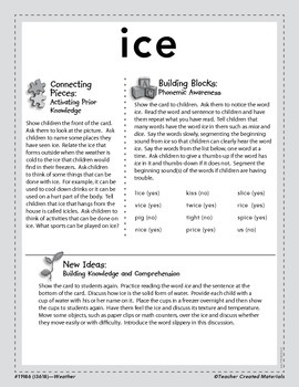 Vocabulary Concept Cards--Ice and Snow