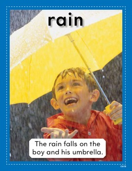 Vocabulary Concept Cards--Rain and Rainbow