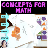 Vocabulary and Concepts for Size Shape Quantity and Locati