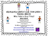 Vocabulary & Context Clue Task Cards: What Makes a Good Friend?