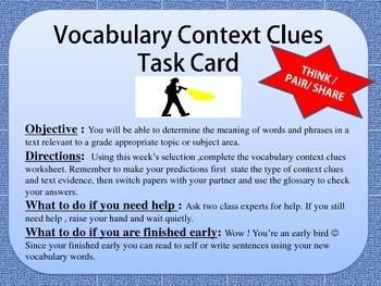 Florida Standards Vocabulary Context Clues