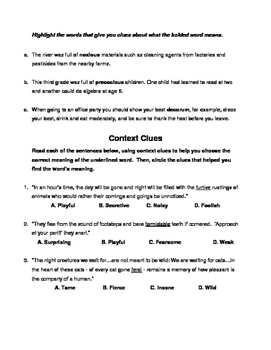 Vocabulary & Context Clues