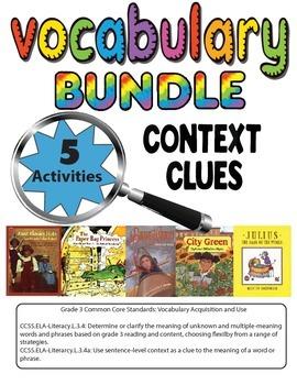Context Clues Vocabulary 5 Activity Bundle for Grade 3