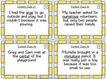 Context Clues Task Cards BUNDLE