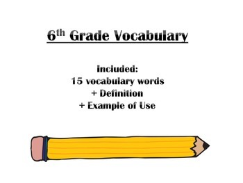 Vocabulary & Context Clues - Middle School (6th, 7th, 8th)