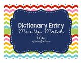Vocabulary/Context Clues Practice - Dictionary Entry Mix U