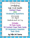 Vocabulary & Context Clues Task Card BUNDLE - STAAR Test Prep