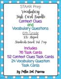 Vocabulary & Context Clues Task Card BUNDLE - STAAR Test Prep