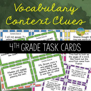 4th Grade Context Clues Task Cards