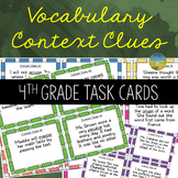 4th Grade Context Clues Task Cards