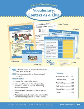 Vocabulary: Context as a Clue (Take It to Your Seat)