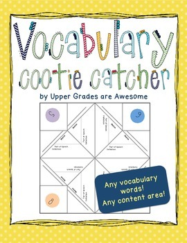Vocabulary Cootie Catcher/Fortune Teller - FREE