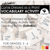 Vocabulary Costume {Digital & PDF}