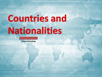 """Vocabulary"""" Countries and Nationalities"""