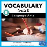 Vocabulary Create It Activities