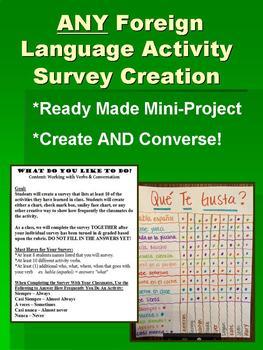 Activity Creation & Survey - Interactive Activity FOREIGN LANGUAGE