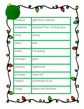 Vocabulary Cross Out Activity Worksheet