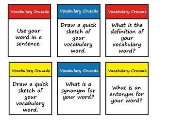 Vocabulary Crusade Board Game