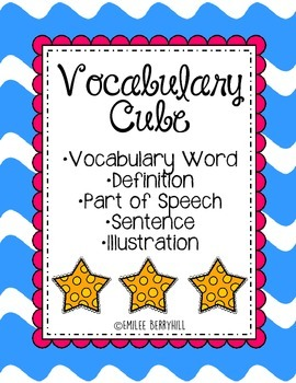 Vocab Cube - Vocabulary Center Activity