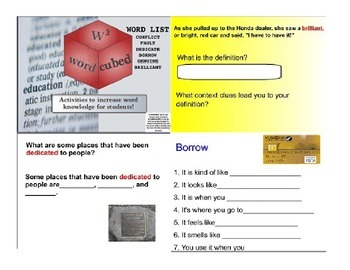 Vocabulary Cubed - SMARTBOARD Interactive and Ready to go