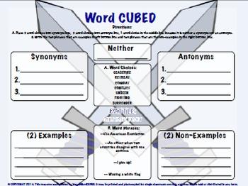 Vocabulary Cubed - List 3 - Ready to go Activity