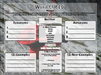 Vocabulary Cubed - List 3 - Ready to go Activity
