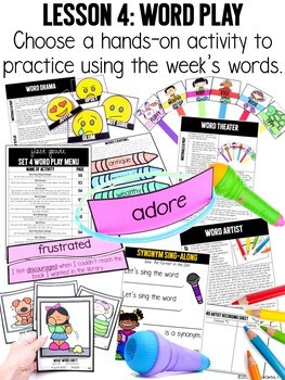 Vocabulary Curriculum First Grade GROWING BUNDLE