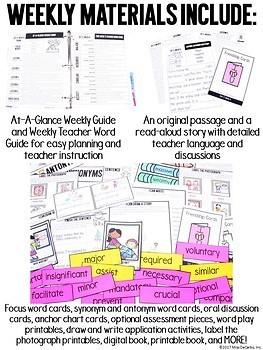 First Grade Vocabulary Curriculum YEAR-LONG BUNDLE