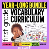 First Grade Vocabulary Curriculum YEAR-LONG BUNDLE