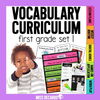 Vocabulary Curriculum First Grade Set 1