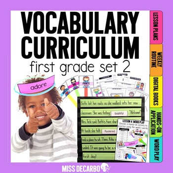 Vocabulary Curriculum First Grade Set 2