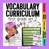 Vocabulary Curriculum First Grade Set 2