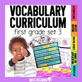 Vocabulary Curriculum First Grade Set 3